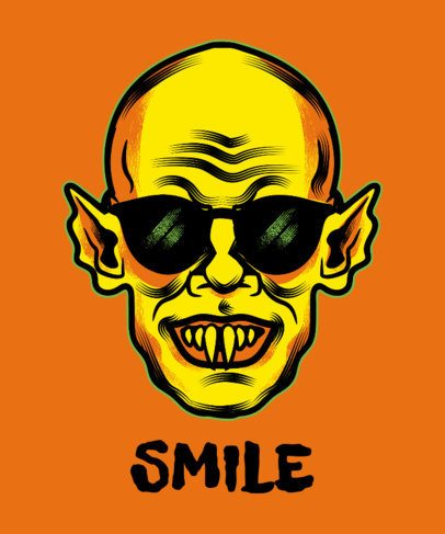 Halloween T-Shirt Design Maker with a Funny Nosferatu Graphic 1567a