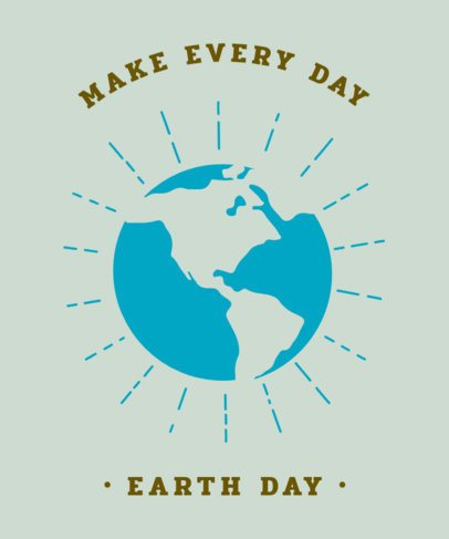Ecology Supporting T-Shirt Design Maker 1562e