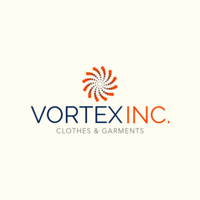 Clothing Brand Logo Template Featuring a Spiral of Dots 1314f