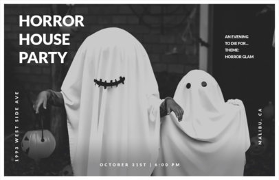 Online Flyer Maker for a Horror Halloween Party 423f
