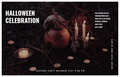 Online Flyer Template for a Halloween Celebration Invitation 423h