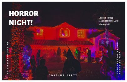 Online Flyer Creator for a Halloween Costume Party 423i