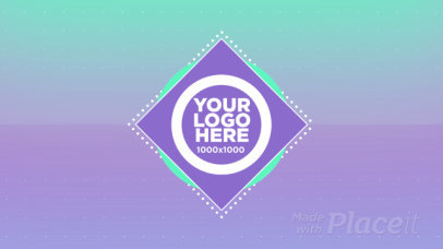 Intro Maker for a Logo Reveal with Cool Gradient Transitions 1732