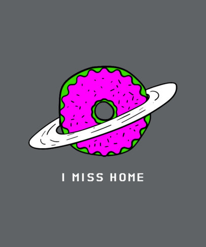 Planet Donut T-Shirt Design Template 437d