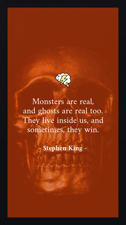 Halloween Instagram Story Template with a Horror Quote 597j