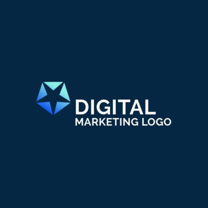 Marketing Logo Maker with a Star Icon 2230f