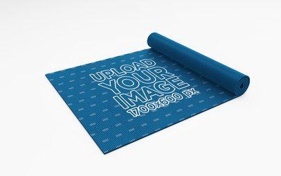 Mockup of a Semi-Rolled Yoga Mat 28373