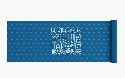 Mockup of a Yoga Mat Lying on a Plain Background 28374