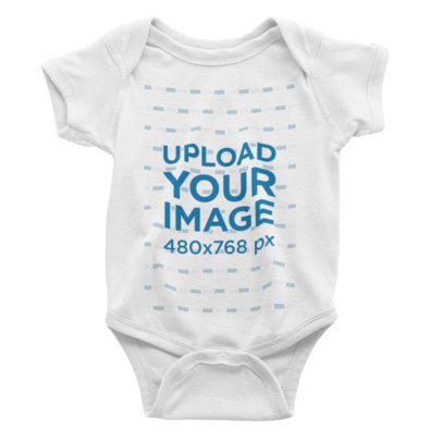 Mockup of a Baby Onesie on a Plain Color Background 223-el