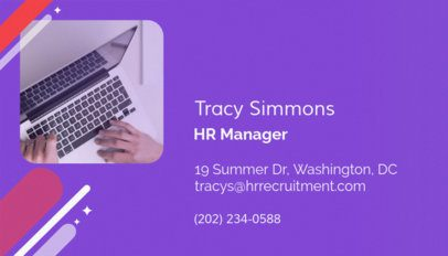 Business Card Maker for an HR Manager 642d