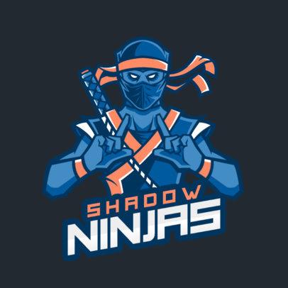 Cool Gaming Logo Maker Featuring a Dark Ninja Character 1747h