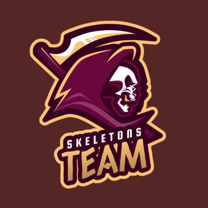 Gaming Logo Generator with a Skeleton Illustration 1743l-2286