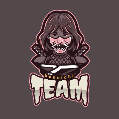 Kunoichi Gaming Logo Maker for Female Gamers 1749i