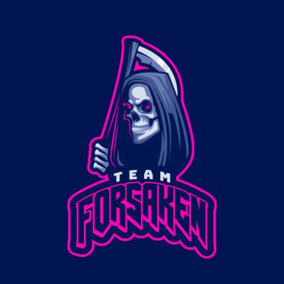 Gaming Logo Generator Featuring a Creepy Reaper Clipart 1745g
