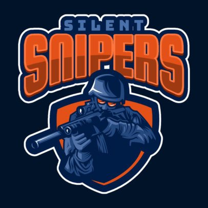 Gaming Logo Maker Featuring a Sniper Shooter Clipart 1869f