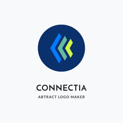 Abstract Logo Maker with Angled Shapes 2297c