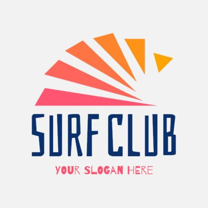 Surf Club Logo Maker with Colorful Shapes 1363f