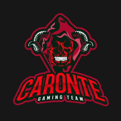 Gaming Logo Template Featuring an Evil Horned Skull Clipart 383q 2290