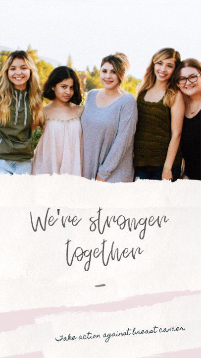 Instagram Story Maker for Breast Cancer Awareness 607p