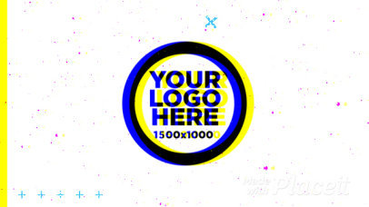 Intro Maker for a Logo Reveal with Color Distortion Effects 1742