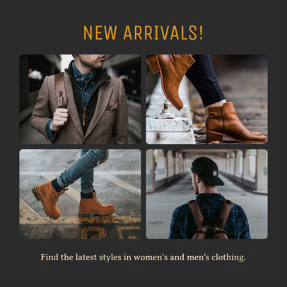 Instagram Post Creator for a Men's Clothing Brand 1588b