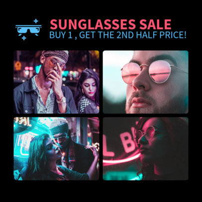 Instagram Post Template for a Sunglasses Brand 1588e