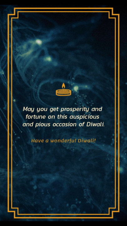 Diwali Holiday Instagram Story Creator with a Positive Quote 1606h 1609