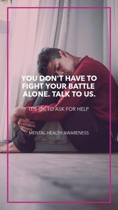 Design Template for a Mental Health Awareness Instagram Story 1600o