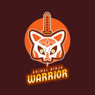 Gaming Logo Creator with an Animal Ninja Warrior 1747l 2315