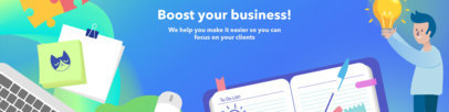 LinkedIn Cover Maker with Business Illustrations 1591