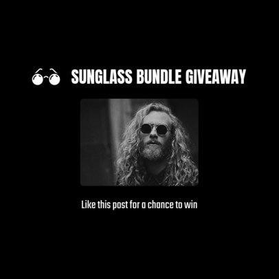 Instagram Post Template for a Sunglasses Giveaway 1588k