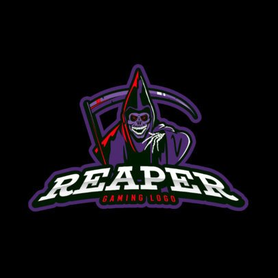Gaming Logo Maker Featuring a Laughing Reaper Clipart 383r 2290