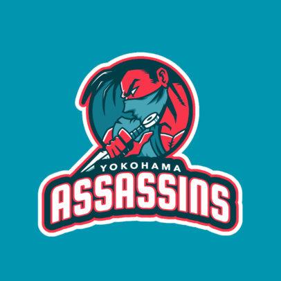 Gaming Logo Maker Featuring a Ninja Illustration 245l-2314