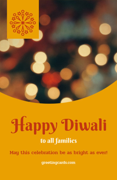 Holiday Flyer Maker for a Happy Diwali Message 1610a