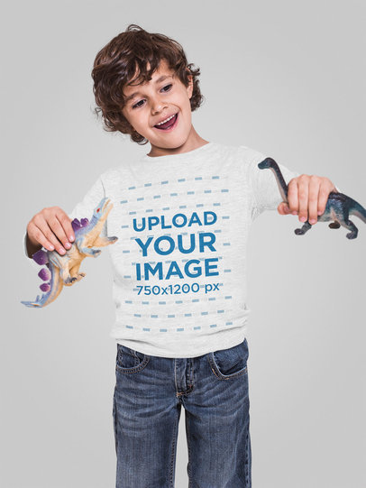 Long Sleeve Mockup of a Boy Playing with Some Toys 28116