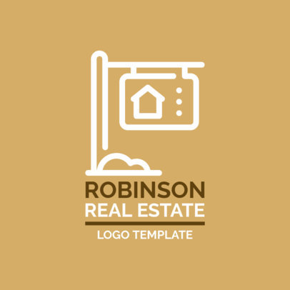 Real Estate Logo Template with a Patterned Letter Clipart 1337f 2309