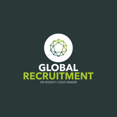 Polygonal Graphic Logo Maker for a Recruitment Company 1449g-2334