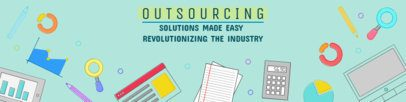 Outsourcing-related LinkedIn Banner Maker 1595b
