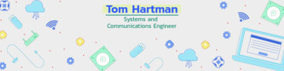 Modern-Looking LinkedIn Cover Template for a Software Engineer 1595g