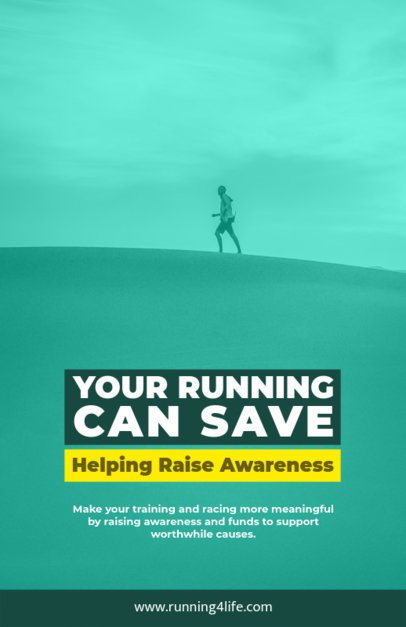 Online Flyer Maker for an Awareness Run 129f-1605
