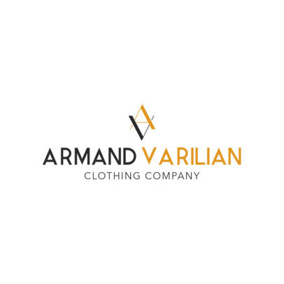 Modern Clothing Logo Maker with a Monogram Icon 1314h-2324