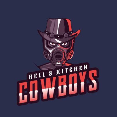 Logo Creator Featuring an Evil Cowboy 2340b