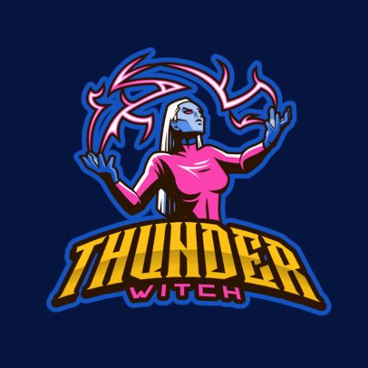 Storm Witch Logo Generator for Female Gamers 383x-2287