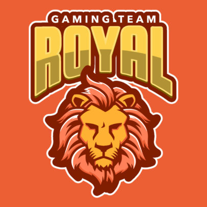 Bold Logo Generator Featuring a Lion Face Clipart 484i-2333