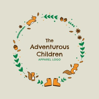 Logo Design Template for Children Apparel with Forrest Icons 2352