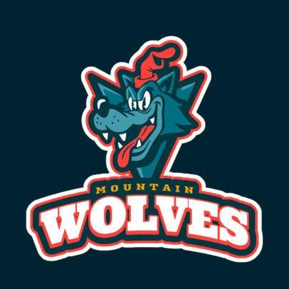 Sports Logo Maker with a Cartoonish Wolf Mascot 1651f-2331