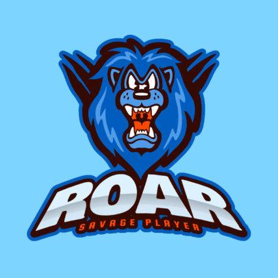 Team Logo Maker Featuring a Fierce Cartoon Lion 444f-2331