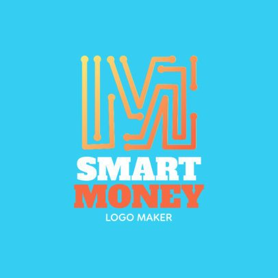 Smart Money Logo Generator Featuring a Circuit-Style Graphic 1141i 2342
