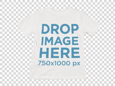Mockup of a Round Neck T-Shirt Over a Flat Background a8998