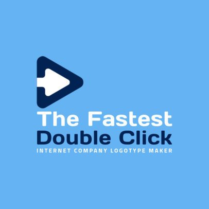 Internet Company Logo Maker with a Simple Arrow Icon 2173i-2368